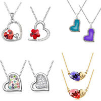 Colourful Red Hearts Pendant Necklace for Valentines Day Jewellery Women Mother