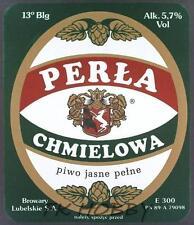 Poland Brewery Lublin Perła Beer Label Bieretikett Etiqueta Cerveza lu54.1