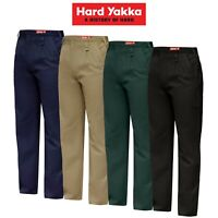 Mens Hard Yakka Cotton Drill Pants Trouser Work Tough Heavy Duty Strong Y02501