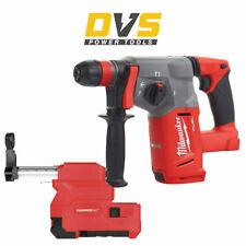 Milwaukee M18CHX-0 M18 Cordless 18V SDS+ Hammer Drill & M18CDEX-0 Dust Extractor