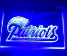 Nfl New England Patriots Blue Led Neon Light Sign for Game Room,Office,Man Cave