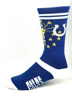 Indianapolis Colts For Bare Feet State Flag Team Crew Socks