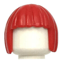 LEGO NEW RED MINIFIGURE HAIR BOB CUT GIRL FEMALE STYLE PIECE