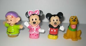 Lot 4 Fisher Price Little People Disney Mickey Minnie Pluto Dwarf