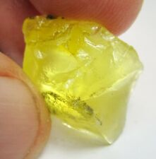 23.38cts Natural Dendritic Yellow Opal Crystal - CABBING/SPECIMEN Rough
