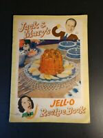 Jack and Mary's Jell-O Recipe Book (1937)