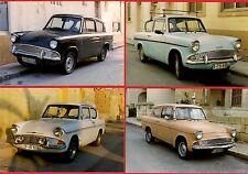 Malta Transport ~ 4 Car Photos - 1960s Ford Anglia 105E: Set 2 - late 1990s