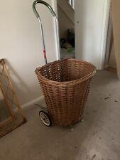 More details for large vintage wicker shopping basket