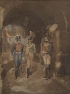 "Watercolour by Thomas MacKay (England 1851-1909) ""The Garrison Gate"""