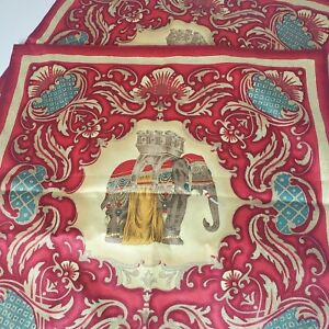 Pair Of Jim Thompson Red Elephant Pillow Covers From Thailand.