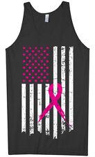 Pink Ribbon Breast Cancer Awareness Flag Men's Tank Top