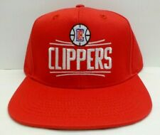 Adidas NBA Los Angeles Clippers Solid Red Snapback Hat Cap New