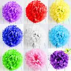 9Color Paper Flower Balls Tissue Pom Poms Wedding Party Home Birthday Decor
