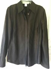 The Works Saks Fifth Avenue Women's Career Shirt CHOCOLATE BROWN SIZE 6