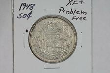 1948 CANADA 50C HALF-DOLLAR XF+