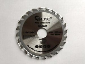 Saw Blade Angle Grinder for Wood Cutting Disc Circular 115x22x24T Max 1200rpm