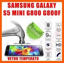 Pellicola vetro temperato per Samsung Galaxy S5 Mini G800 OLEOFOBICA Antiurto