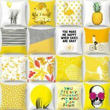 "18"" Nordic style Yellow Pillow Case Sofa Car Waist Throw Cushion Cover Home Deco"