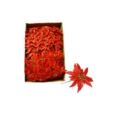 Red Poinsettia Artificial Flowers For Use In Christmas Wreaths x 100 Stems