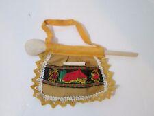 Vintage Match Holder Apron Wood Spoon Decoration from Switzerland Souvenir