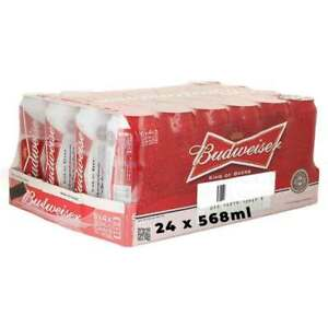 Budweiser Lager Beer 24 x 568ml cans