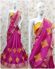 Indian Bollywood Cotton Saree With designer  Embroidery Work