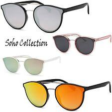Classic Style Aviator Designer Metal Top Bar Women Men Fashion Mirror Sunglasses