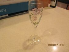 PERRIER JOUET CHAMPAGNE HANDPAINTED  FLUTE (PINK BLOSSOMS)