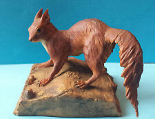 VERY RARE 1978 BORDER FINE ARTS RED SQUIRREL - STANDING TAIL DOWN - LAING