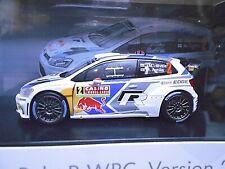 VW Volkswagen Polo WRC Rallye WM 2014 Monte Latvala #2 RAR Red Bull Spark 1:43