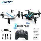 JJRC H345 JJ1+JJ2 Mini Foldable Drone Set 1 White and 1 Black Headless Mode RTF