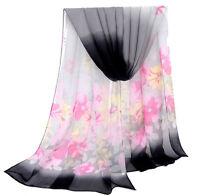 New Fashion Lady Girls Long Soft Chiffon Scarf Wrap Shawl Stole Scarves
