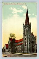 Rochester NY, St Patrick's Cathedral, Vintage New York Postcard