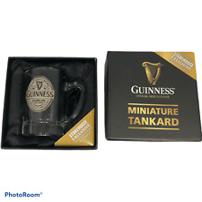 More details for guinness miniature tankard glass rare storehouse exclusive boxed h2.75