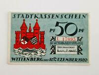 WITTENBERG NOTGELD 50 PFENNIG 1920 NOTGELDSCHEIN (11626)