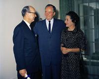 Senator Hubert Humphrey in the White House Cabinet Room 1961 Photo Print