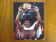 LEON SPINKS   World  Heavyweight  Champion Signed  Glossy  Color  8 X 10  Photo