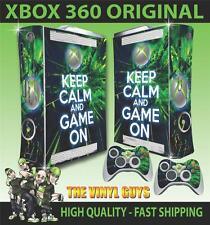 XBOX 360 VECCHIO ADESIVO FORMA mantenere la calma e di selvaggina in SKIN e 2 SKIN PER PAD