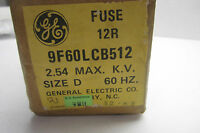 NEW SEALED GENERAL ELECTRIC 9F60LCB512 FUSE 12R  SIZE D