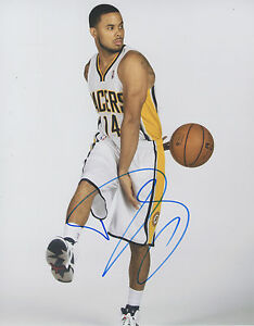 D.J. Augustin INDIANA PACERS Signed 8x10 Photo D2 COA GFA