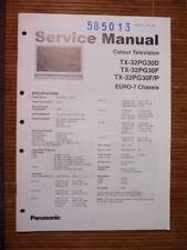Panasonic REPARACION DE MANUAL DE SERVICIO tx-32pg30 televisión, original