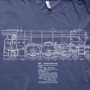 Flying scotsman 4472 train LNER loco model railways t shirt