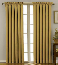 "Eclipse Canova Rod-Pocket Window Thermaweave Curtain Panel 42""X84"" Gold"