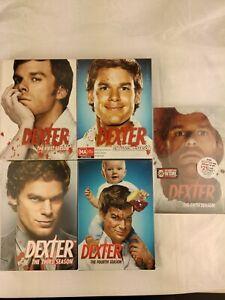 Dexter Season 1-5 first to fifth Seasons Box Set Lot Pal & Ntsc complete Aus sel