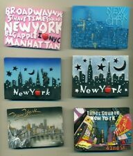 MAGNET LOT #6 - LOT OF 6 DIFFERENT REFRIGERATOR MAGNETS - NEW YORK - EMBOSSED