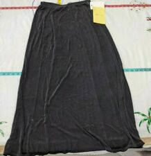 Citiknits Black Acetate Spandex  Skirt Sz M