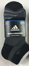 Adidas Low Cut Socks 3 Pack White Gray Black Mens 6-12 Moisture Wicking 3 Pairs