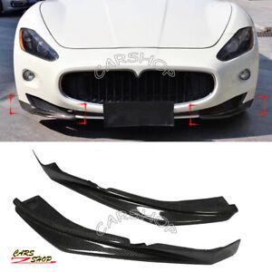 Real Carbon Fiber Front Bumper Splitter Lip For Maserati GranTurismo Coupe 08-14