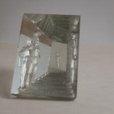 sculpture cristal - Aristide Colotte - surréaliste - De Chirico - Delvaux ..