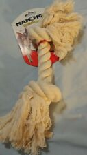 Mammoth Flossy Chews Dog Play Toy Rope Toss Tug Floss White Bone Size XL 10008V